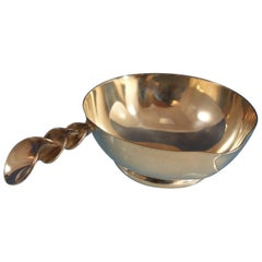 Jurentino Lopez Reyes Mexican Sterling Silver Sauce Bowl with Two Spouts