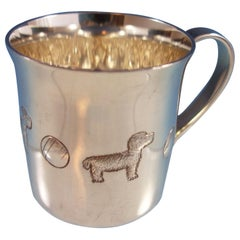 Tiffany & Co. Sterling Silver Baby Cup with Dogs and Balls #25898