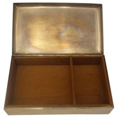 Cartier Sterling Silver Cigarette Box Wood Lined