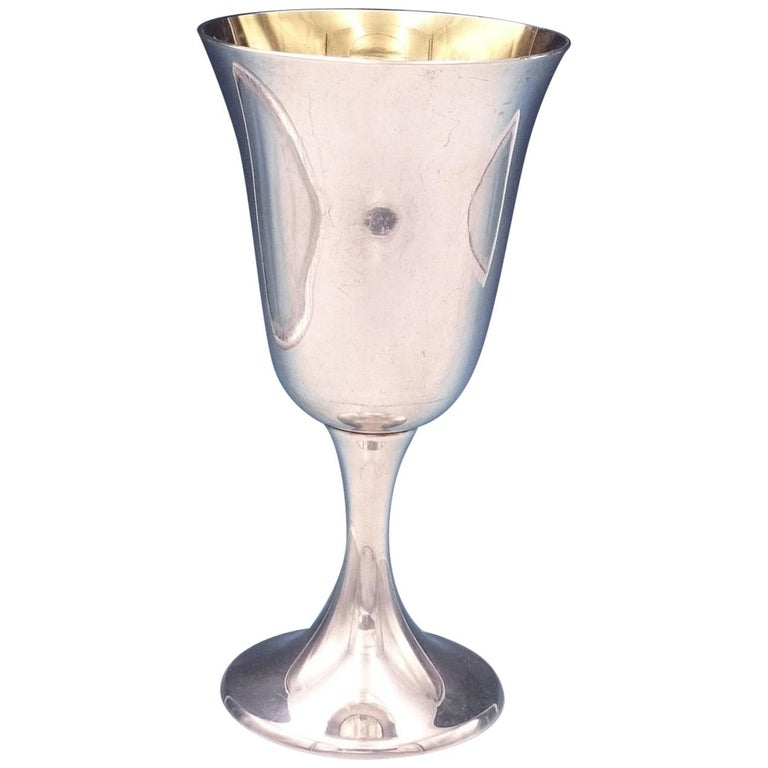Gorham Sterling Silver Water Goblet with Gold Washed Interior #A13558 #4645
