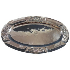 Aztec Rose by Unknown Mexican Mexico Sterling Silver Platter