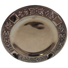 Aztec Rose by Maciel Mexican Mexico Sterling Silver Dessert Plate