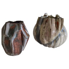 Two Freeform Studio Pottery Vases, 1960s, Dutch