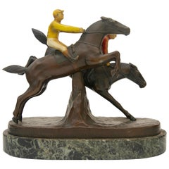 Bronze Sculpture, English Steeple Chase