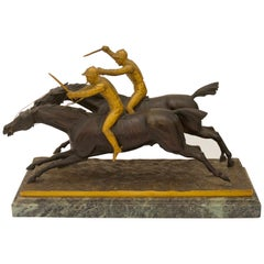 Bronze Sculpture of Racing Jockeys