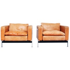 Robert Haussmann De Sede RH 302 Lounge Armchair Brandy Cognac