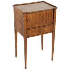 Late 18th Century French Louis XVI Period Walnut Side Table End Table Nightstand