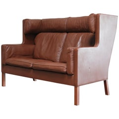Børge Mogensen Leather Sofa Coupe 2192 for Fredericia