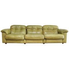 De Sede James Bond Leather Sofa DS 101 Olive Green
