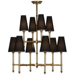 Bamboo 10-Light Chandelier by Antonio Ciulli & Figlio