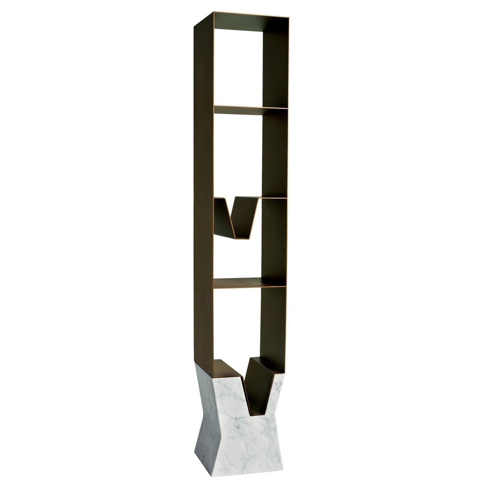 Venezia Bookcase by Paolo Salvadè by MGM Marmi & Graniti