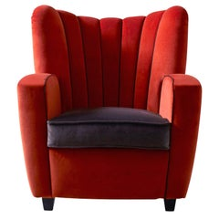 Zarina Chestnut or Paprika Baby Armchair by Cesare Cassina by Adele C