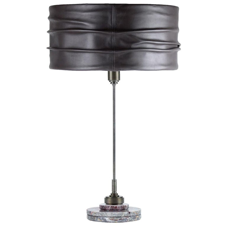 Semele Steel Gray Table Lamp by Acanthus For Sale