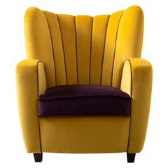 Zarina Eggplant or Gold Baby Armchair by Cesare Cassina by Adele C