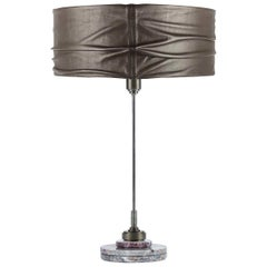 Semele Steel Gray Table Lamp with Salome Marble by Acanthus