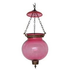 Spätes 19. Jahrhundert Cranberry Laterne, Englisch