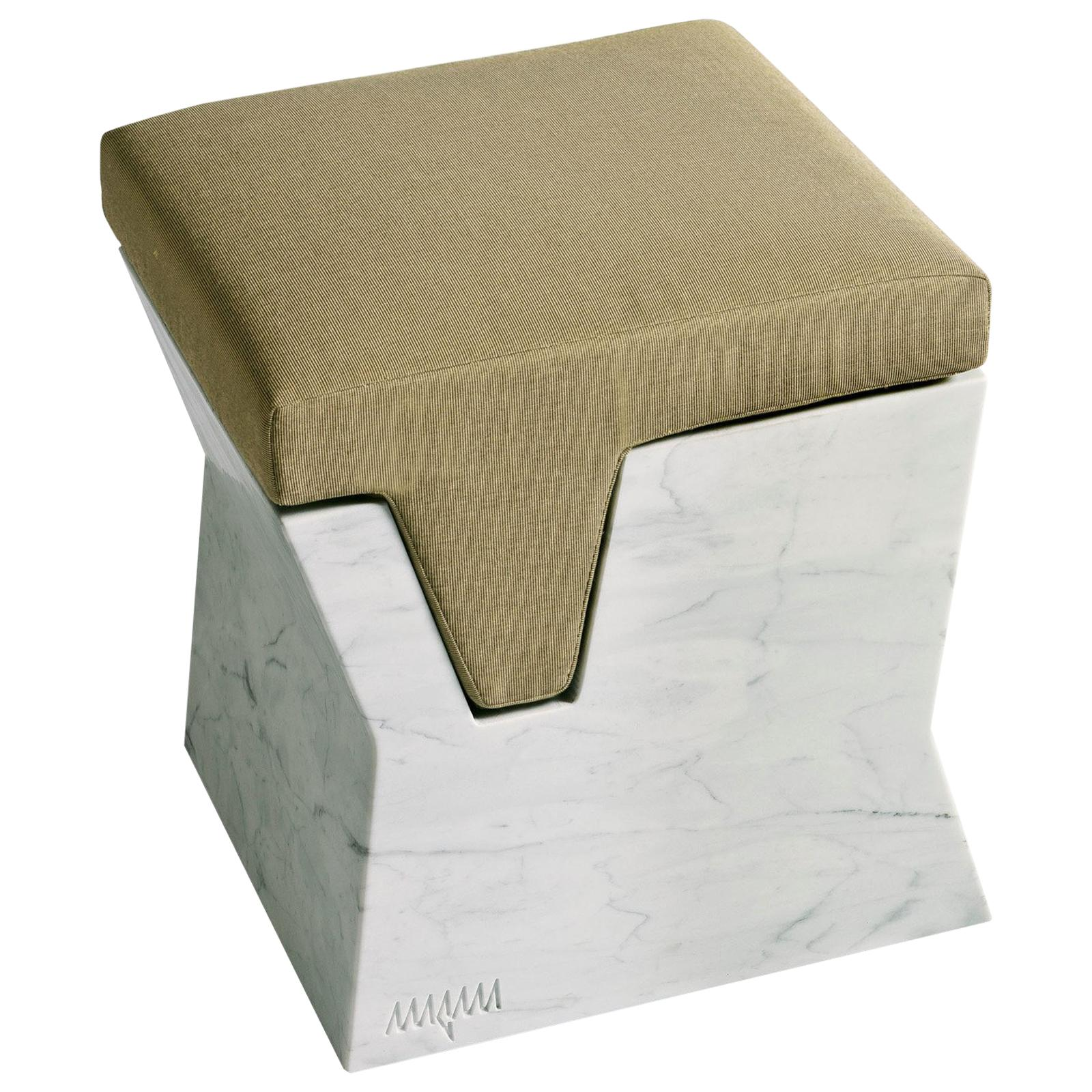 Plaza Pouf with Cushion by Paolo Salvadè by MGM Marmi & Graniti
