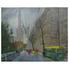 New York City Park Avenue Street Scene, Boudreau, circa 1960