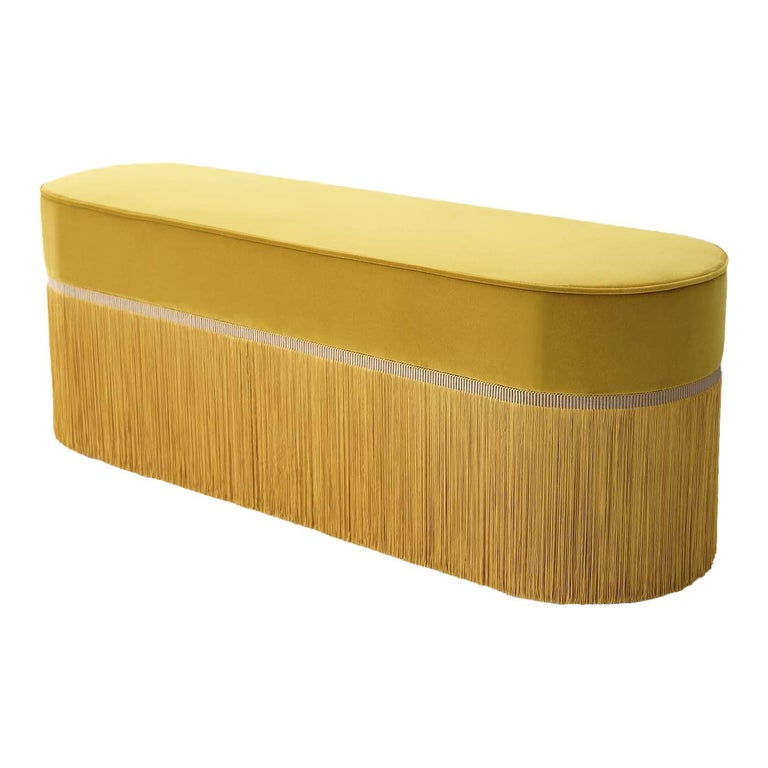 Couture Yellow Bench by Lorenza Bozzoli Design For Sale