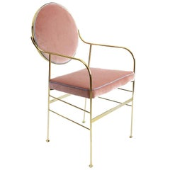 Luigina Gold and Pink Queen Chair by Sotow