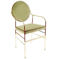 Luigina Gold and Sage Chair by Sotow