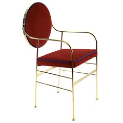 Luigina Gold and Red Chair by Sotow