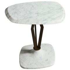 Bisel Table with Metal by Paolo Salvadè by MGM Marmi & Graniti