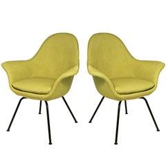 Hans Bellman Green Lounge Chairs for Strassle, Switzerland, 1954