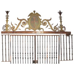 Renaissance Grille, Wrought and Gilt Iron, Stone, Spain, 16th Century