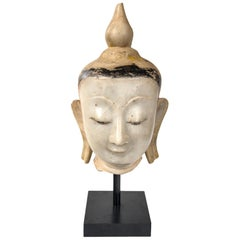 Burmese Marble Head of the Buddha