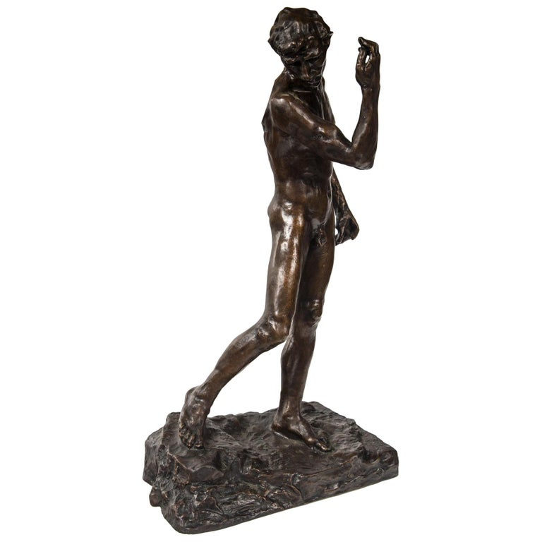Museum Copy of a Rodin Sculpture of a Male For Sale