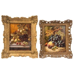 Set of 3 Still Life in Gilt Frames Signed