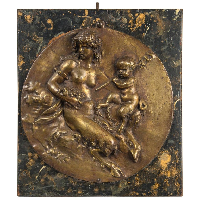 Bronze Round Wall Plaque For Sale