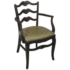 Early Thonet Classic Ladder Back Arm Chair with Label Thonet New York