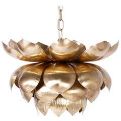 Große Messing Lotus Lampe
