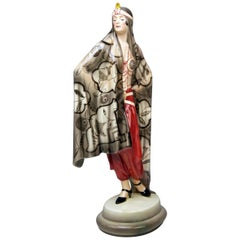Goldscheider Vienna Lady Aida Odalisque Model 5281 Josef Lorenzl Made 1925-1930