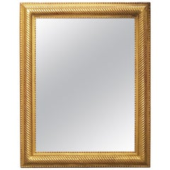French Gilt Rectangular Wall Mirror (H 39 x W 30 3/4)