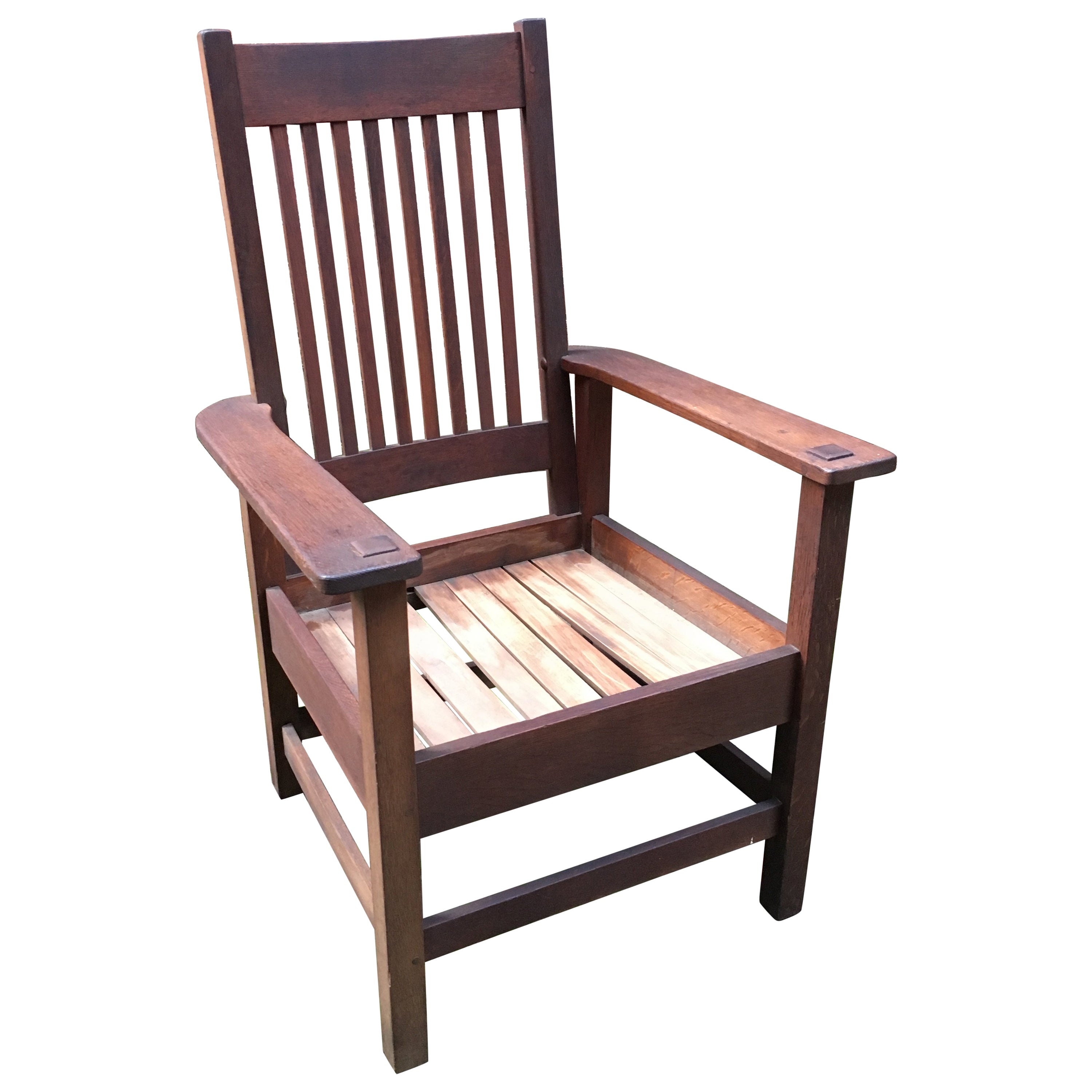 Stickley Brothers Quaint Furniture Arts & Crafts Spindle Back Armchair