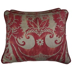 Vintage Glicine Patterned Fortuny Pillows, Pair