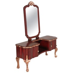 Early 20th Century Venetian Baroque Vanity, Mirrored Console, Dressing Table