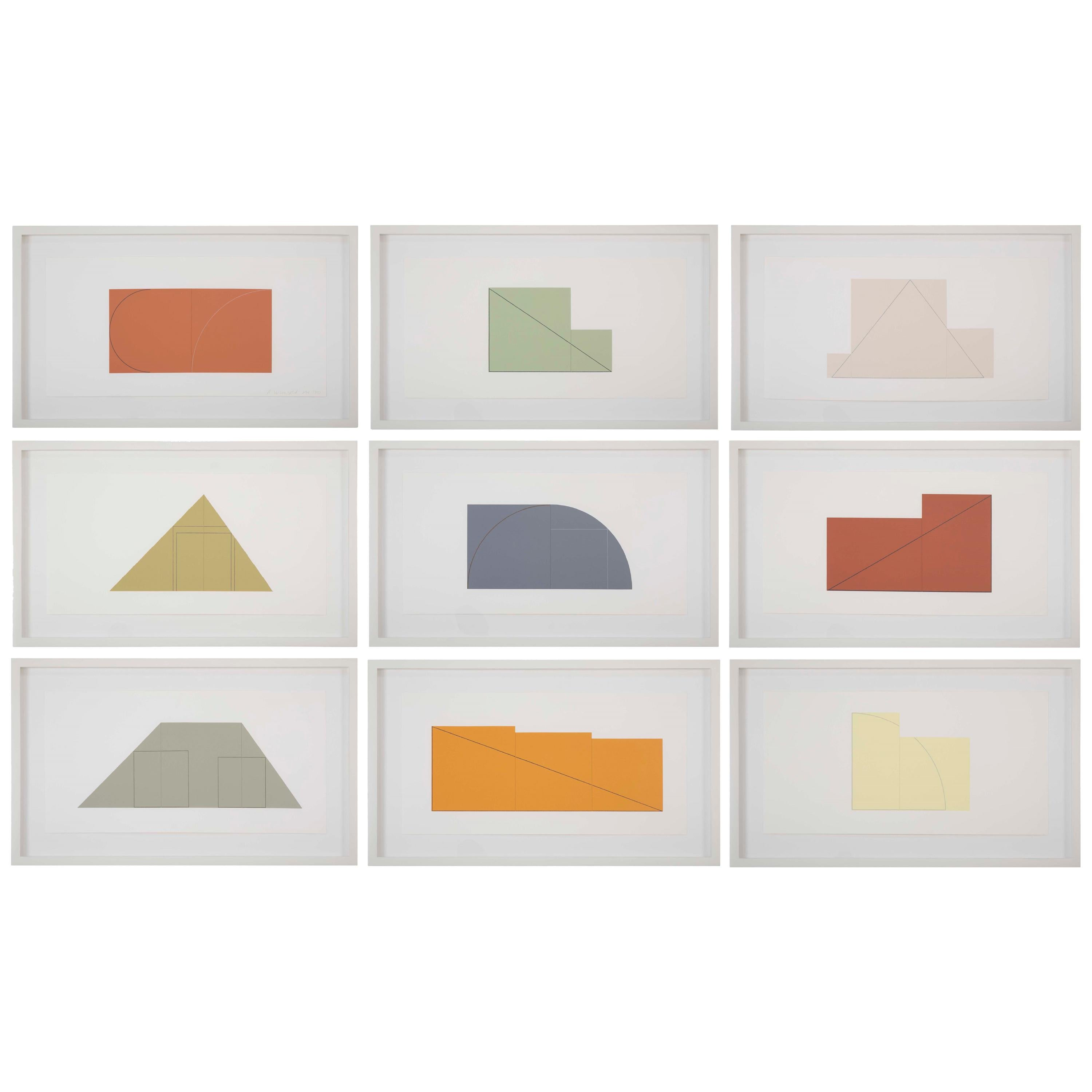 Complete Portfolio of Prints-Multiple Panel Painting 1973-1976 by Robert Mangold