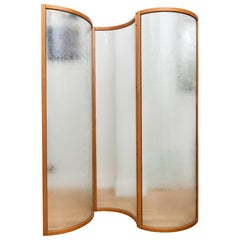 Glass Voyeur Screen / Room Divider by Vittorio Livi for Fiam