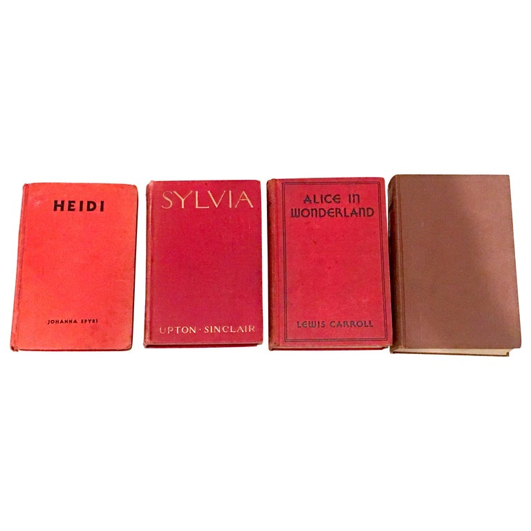 Mid-20th Century Set of Four 1st Edition Red Cloth Books For Sale