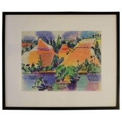 Pastel Landscape by Erle Loran #1