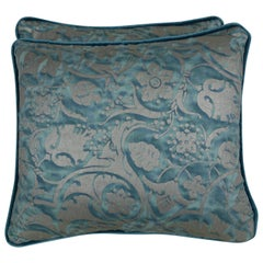 Persepolis Patterned Fortuny Textile Pillows, a Pair