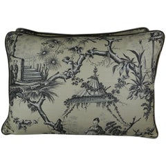 Brunschwig & Fils Chinoiserie Textile Pillows, Pair