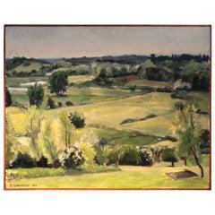 Signed Pastoral Impressionist Landscape by B. Lahaussois