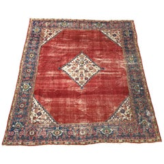 Distressed Antique Indian Rug