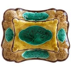 Majolica Rectangular Platter Sarreguemines Majolica, circa 1870