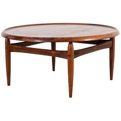 Kurt Ostervig Mid-Century Modern Rosewood Coffee Table